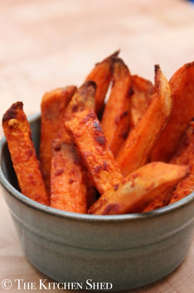 how to cut sweet potatoes into chips